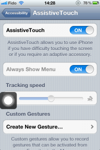 Assistive Touch ON